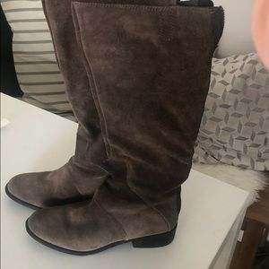 Nine West Gray over the knee boots